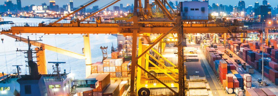 Entwässerung von Häfen und Containerhafen