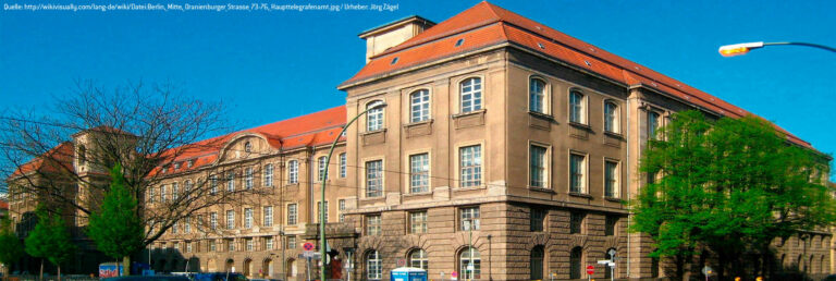 "RESTORATION HISTORIC MONUMENT: ""MAIN TELEGRAPH OFFICE BERLIN"""