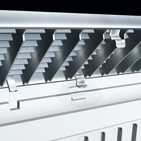 Systéme de fixation rapide de grilles de caniveaux CLIPFIX