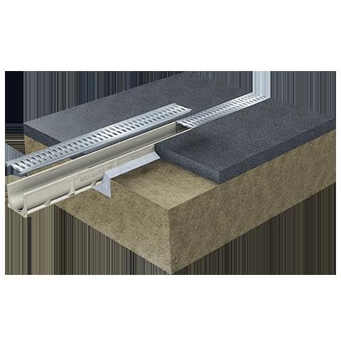 Caniveau de drainage MEAGARD II installation 2
