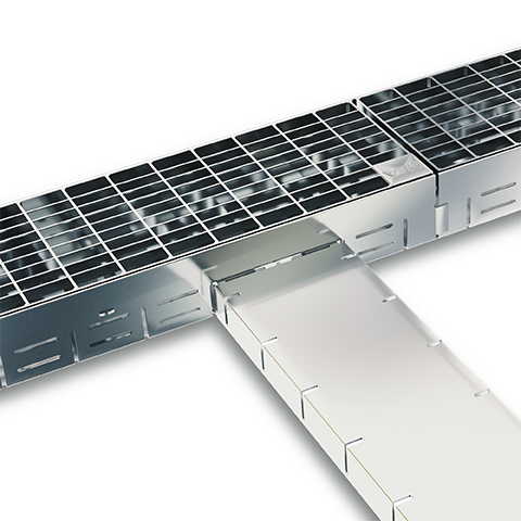 Drainaga channel MEATEC for facades and terrasses perfect fit