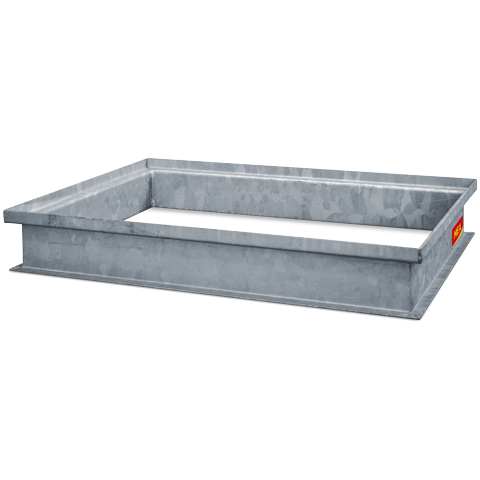 Steel attachment for concrete light wells
