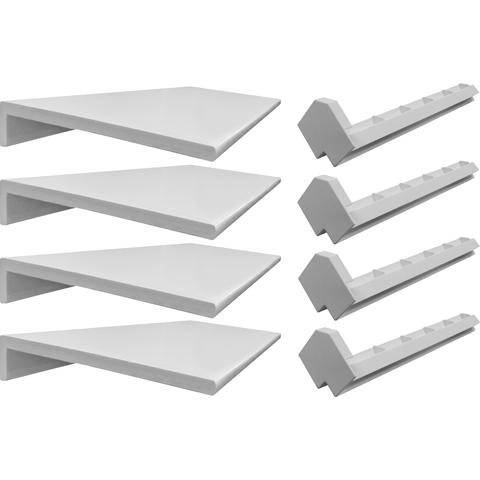 Perimeterabdeckrahmen-4tlg-Einzelteile