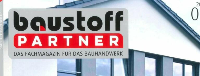 Pressebericht im baustoffPartner 3/2021