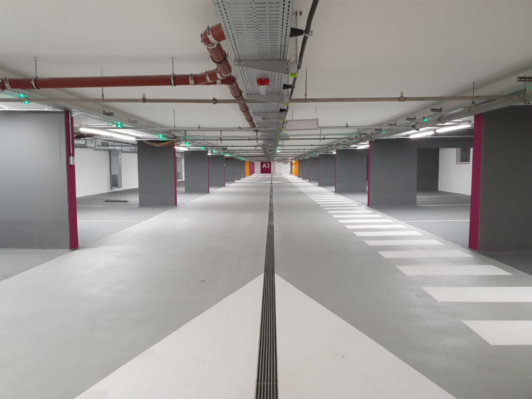 A new drainage channel system for a multi-storey car park in Schwäbisch Hall
