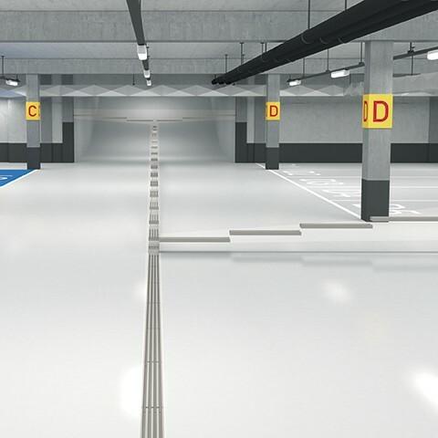 Caniveau pour parking MEADRAIN PG installation
