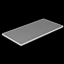 Caillebotis grille métal déployé