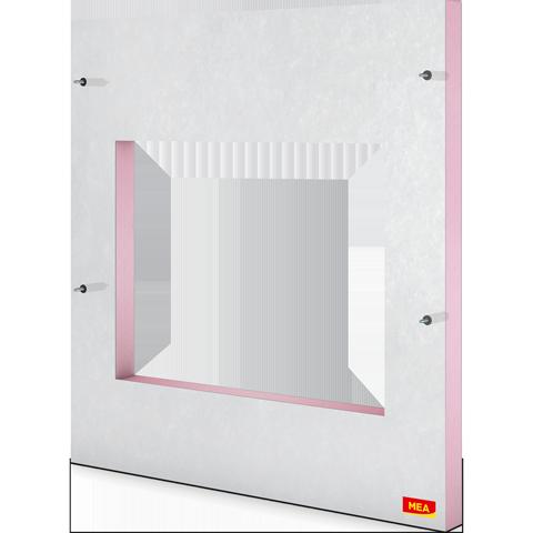 Plaque de mPlaque de montage isolante MEAFIX avec ancrages pour cour anglaises bétonontage isolante MEAFIX avec ancrages