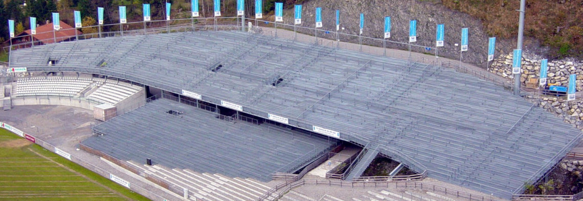 MEA Metal Applications - Referenzen Skistadion Oberstdorf